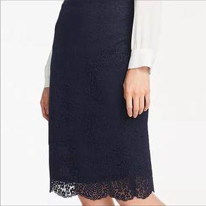 Aritzia Wilfred Lace Pencil Skirt- Black- Size S